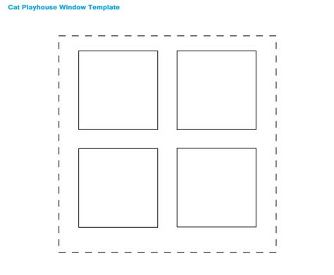 window template how to make a cat maze playhouse with cardboard boxes