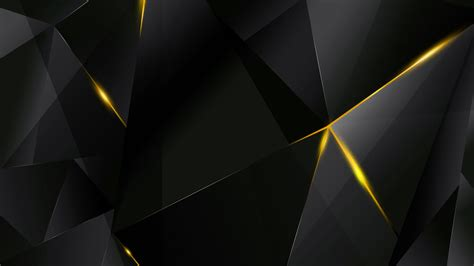 Abstract Black Yellow by Wallpapers Yellow Abstract Polygons Black Bg By