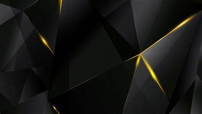 Yellow Abstract Wallpapers Bg Polygons Resolution Negro