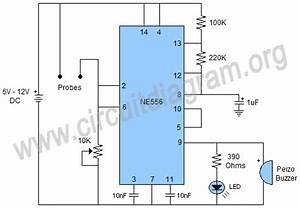 Plant Soil Moisture Sensor Alarm Using 556 Ic