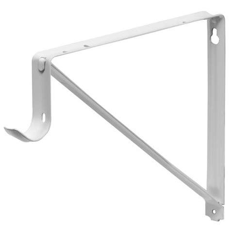 white heavy duty shelf rod bracket at menards 174