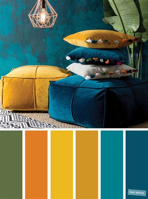 color inspiration copper green mustard peacock teal