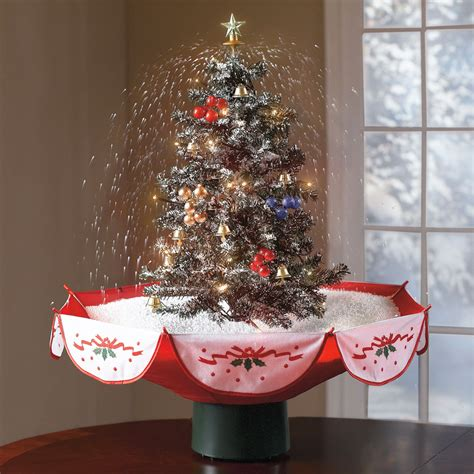 table top christmas trees with lights tabletop snowing christmas tree the green head