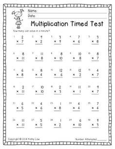 timed test generator for addition subtraction and multiplication kids school pinterest