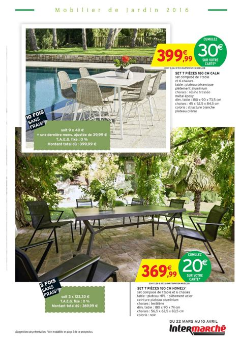Intermarchu00e9 u2013 Mobilier de jardin 2016 | Cataloguespromo.com