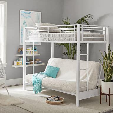 bunk beds rooms to go ellis metal loft bed pbteen 18394 | ellis metal loft bed m