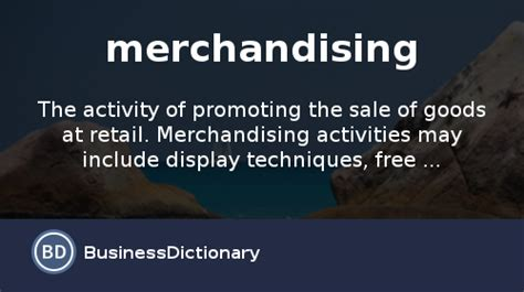merchandising definition  meaning