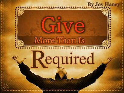 Give Than Required Apostolic Always