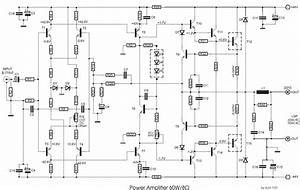 Power Amplifier 60w  8 U03a9 Circuit Diagram And Instructions