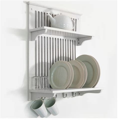 white kitchen dish plate bowl cup towel drainer holder rack shelf wall mounted ebay