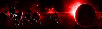 Dual Screen Space Wallpapers Planets Outer Scene