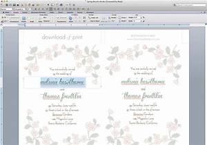 spring branch wedding invitation set diy tutorial With wedding invitation templates 2 per page
