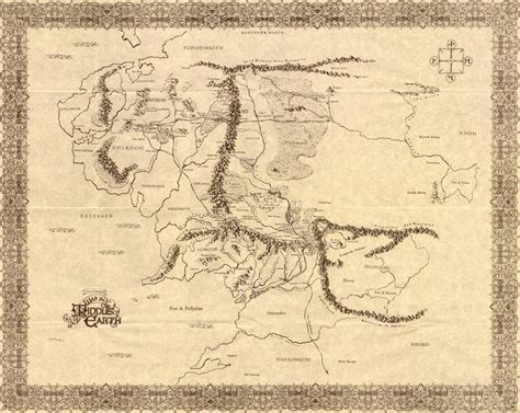 The Lord Of The Rings Maps