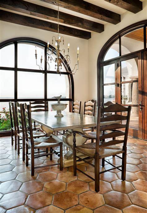 Lake Conroe Spanish  Mediterranean  Dining Room Austin