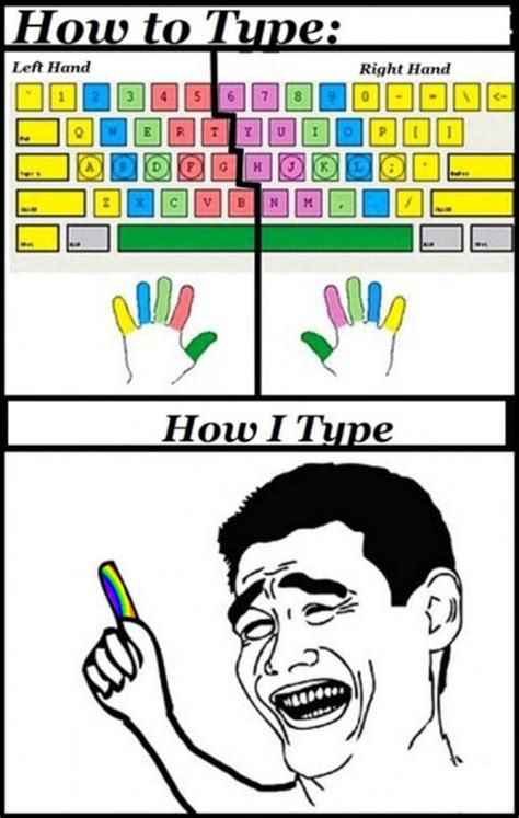 Typed Memes - funny rage comic how i type keyboard