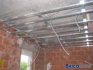 Faux Plafond Autoportant : plafond suspendu autoportant maison travaux ~ Nature-et-papiers.com Idées de Décoration