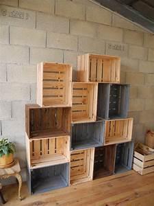 Caisse En Bois : caisses en bois par peiot sur l 39 air du bois ~ Nature-et-papiers.com Idées de Décoration