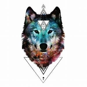 Tatouage Loup Geometrique : tatouage temporaire loup geometrique specialement par kolawi ~ Melissatoandfro.com Idées de Décoration