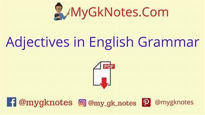 Grammar English Clauses Adjectives Pdf