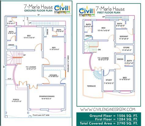 4 bedroom house blueprints different house plans for different sizes aarz pk