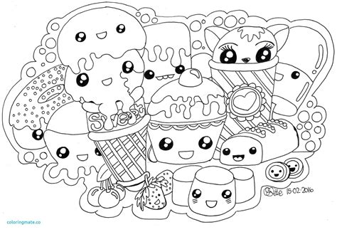 Kawaii Food Coloring Pages Download