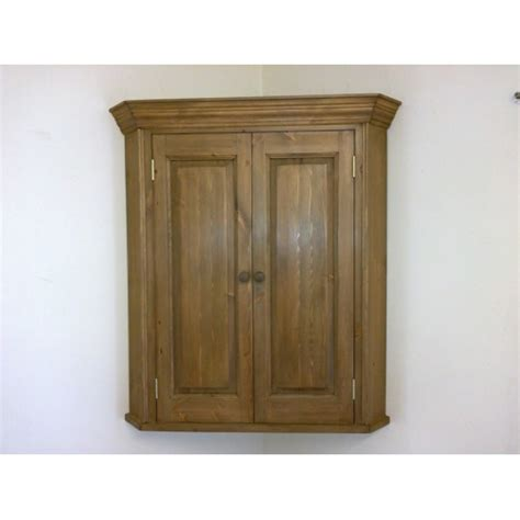 Corner Wall Cupboard by Pine 2 Door Wall Corner Cupboard W73cm