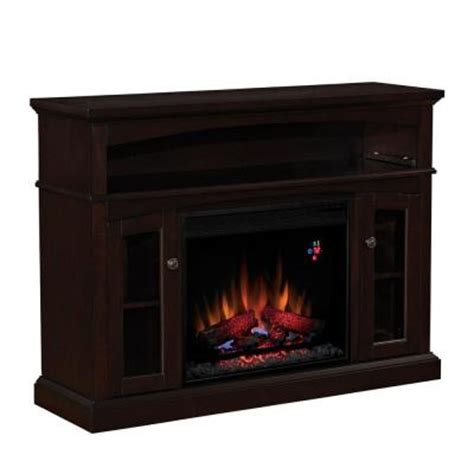 portable fireplace home depot hton bay 48 in media console electric fireplace in
