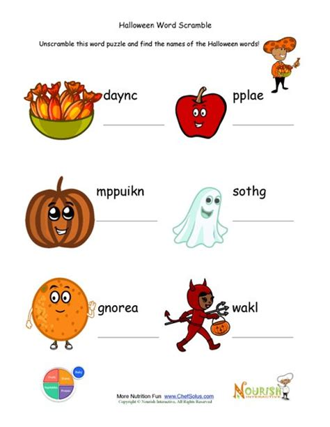 Holidays 10 Unscramble The Halloween Holiday Words