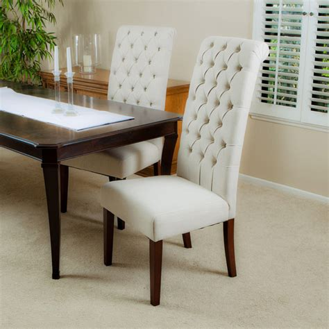 cooper beige dining chair set of 2 modern