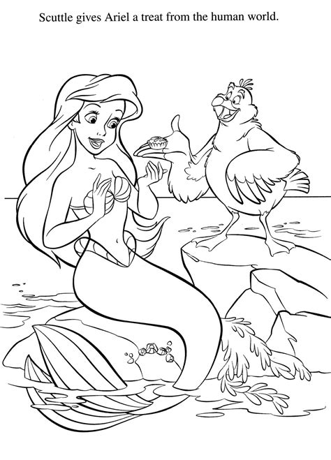 Little Mermaid Coloring Pages My Disney Pinterest