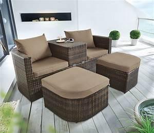 Gartenmöbel Lounge Rattan : gartenm bel lounge set outdoor sofa my lovely home ~ Indierocktalk.com Haus und Dekorationen