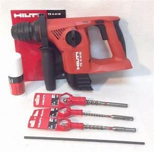Hilti Akkuschrauber 18v : new hilti te 4 a18 18v cordless rotary hammer drill sds tool only bits ebay ~ Eleganceandgraceweddings.com Haus und Dekorationen
