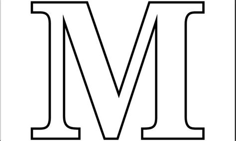 Printable Pdf Letter M Coloring Page
