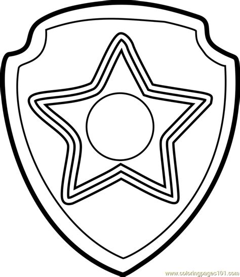 badge coloring page paw patrol badge coloring page sketch coloring page