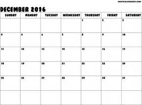 Blank Monthly Calendar October 2016 Printable