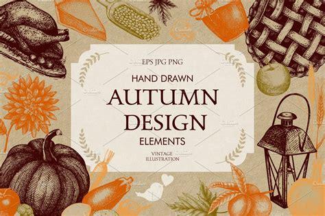 vintage autumn design illustrations creative market