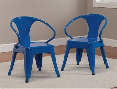 tabouret stacking chairs baja blue set of 2