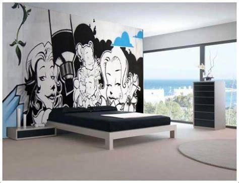 Grafiti Dinding Kamar : Desain Interior Rumah Unik Dengan Graffiti Wallpaper