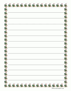 christmas writing borders writing paper with borders for nozna net
