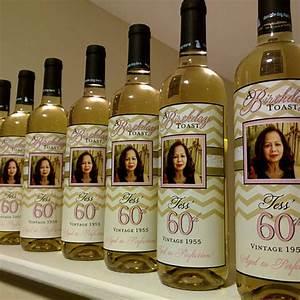 birthday wine label custom wine label personalized With custom wine bottle labels birthday