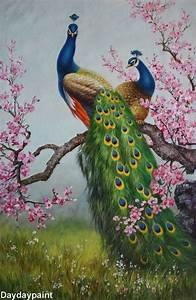 Handmade Peacock Paintings 006, 100% Hand-painted on ...