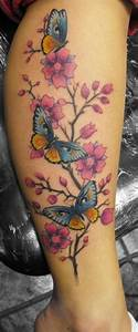 Tattoo Blumenranke Arm : tattoo with stars on calf large winged pink butterfly tattoo on calf calf pinterest ~ Frokenaadalensverden.com Haus und Dekorationen