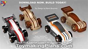 Wood Toy Plans - Wild & Rugged GT Race Cars - YouTube