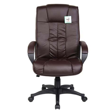 chocolate brown faux leather executive computer office chair