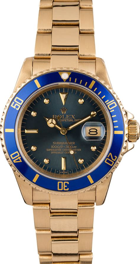 Buy Used Rolex Submariner 16808 | Bob's Watches - Sku: 121642