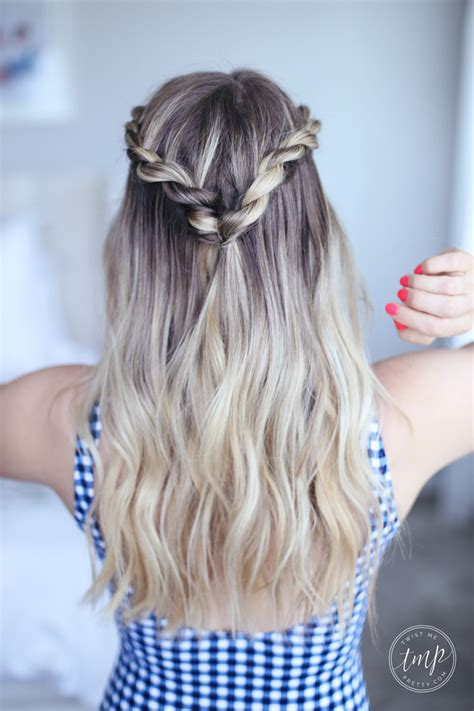 cute summer twists beach hairstyle twist  pretty