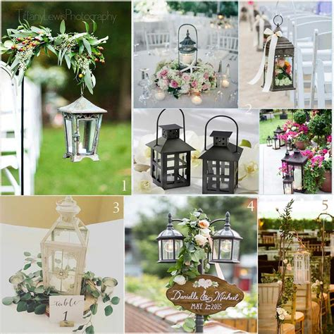 2017 Wedding Invitations Trends Metal Lanterns as Decor