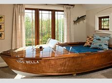 Amazing boat bed, is it a repurposed boat or was it custom