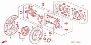 Rear Brake For Honda Cars Civic 1 8 Es 5 Doors 6 Speed