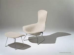 Fauteuil Haut Dossier : fauteuil haut dossier et ottoman bel il design art d coration ~ Teatrodelosmanantiales.com Idées de Décoration